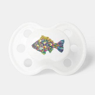 Colorful fun fish pacifier