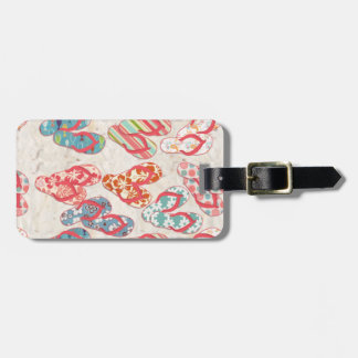 Colorful & fun flip flop summer fun! bag tag
