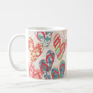 Colorful & fun flip flop summer fun! coffee mug