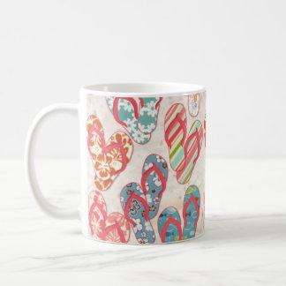 Colorful & fun flip flop summer fun! classic white coffee mug