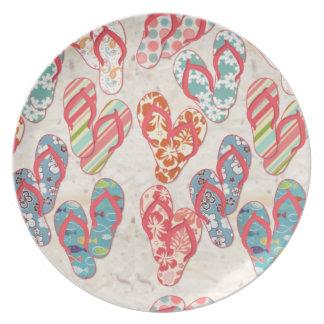 Colorful & fun flip flop summer fun! plate