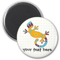 Colorful Fun Gecko Lizard Magnet