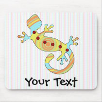 Colorful Fun Gecko Lizard Mouse Pad