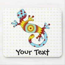 Colorful Fun Gecko Lizard Mouse Pad