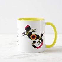 Colorful Fun Gecko Lizard Mug