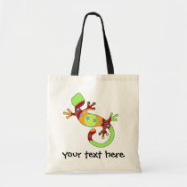 Colorful Fun Gecko Lizard Tote Bag