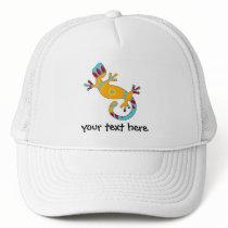 Colorful Fun Gecko Lizard Trucker Hat
