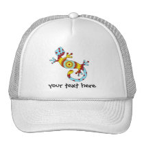 Colorful Fun Gecko Lizard Trucker Hat