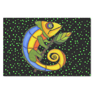 "Colorful Fun Lizard Branch Dots 10"" X 15"" Tissue Paper"