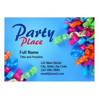 Colorful Fun Party Present Card Large Business Card