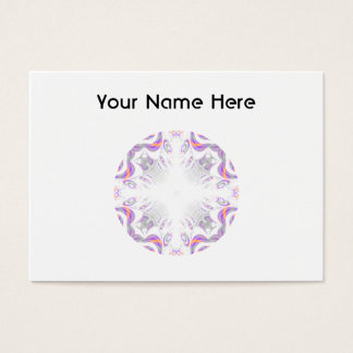 Colorful fun pattern. White, Purple, Orange. Business Card