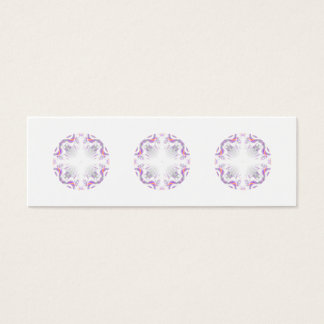 Colorful fun pattern. White, Purple, Orange. Mini Business Card
