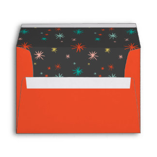 Colorful Fun Starbursts New Year Holiday Envelope