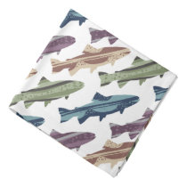 Colorful Fun Trout Fish Pattern Bandana