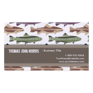 Colorful Fun Trout Fish Pattern Business Card Template