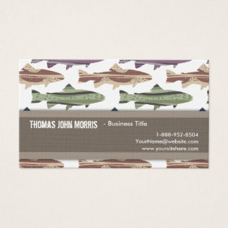Colorful Fun Trout Fish Pattern Business Card