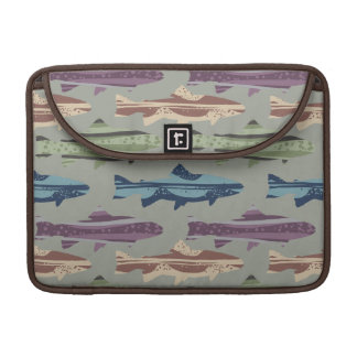 Colorful Fun Trout Fish Pattern MacBook Pro Sleeves