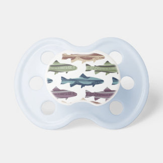 Colorful Fun Trout Fish Pattern Pacifier