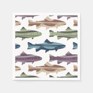 Colorful Fun Trout Fish Pattern Paper Napkin