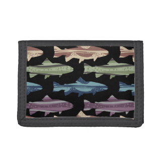 Colorful Fun Trout Fish Pattern Trifold Wallet