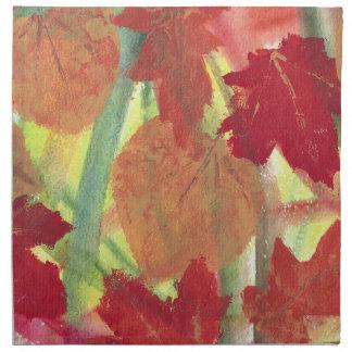 Colorful Fun with Fall Autumn Leaves Napkins