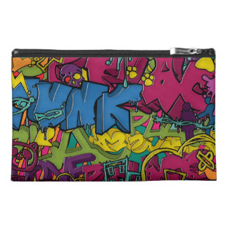 Colorful, funky and Urban Graffiti art Travel Accessory Bags