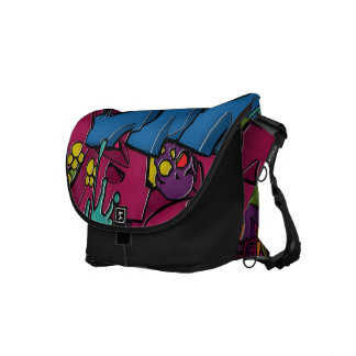 Colorful, funky and Urban Graffiti art Courier Bags