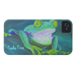 Colorful funky frog Blackberry Bold phone case iPhone 4 Case