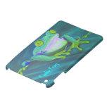 Colorful funky frog iPad mini case