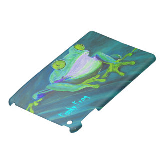 Colorful funky frog iPad mini case