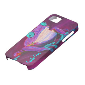 Colorful funky frog iPhone 5 case