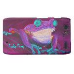 Colorful funky frog Motorola Droid Razr phone case Droid RAZR Cases