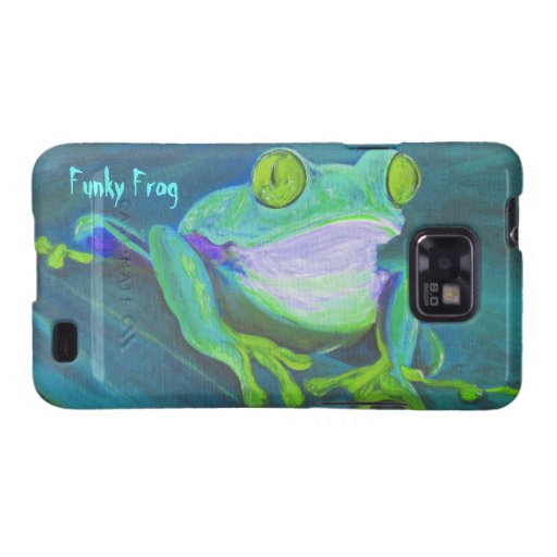 Colorful funky frog Samsung Galaxy S2 case