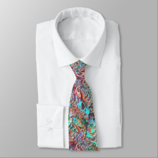 Colorful Funky Fun 3D Blur Waves Pattern Neck Tie