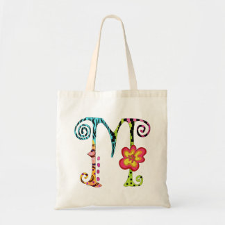 Colorful Funky Monogram M Tote Bag