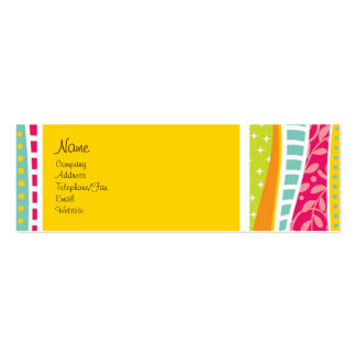 Colorful Funky Profile Card Business Card