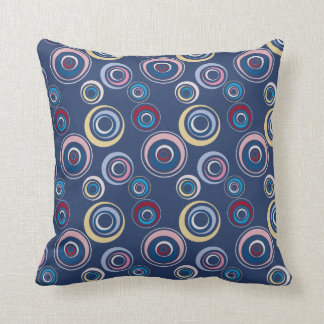 Colorful Funky Retro Circles Pillow