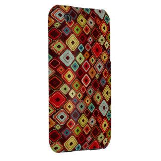 Colorful Funky Retro Squares iPhone 3G Case iPhone 3 Case