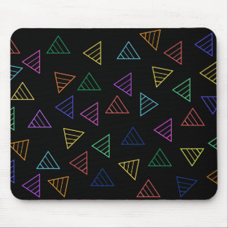 colorful funky triangles mouse pad