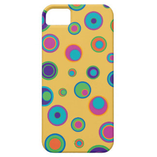 colorful funny circles in circles yellow iPhone SE/5/5s case