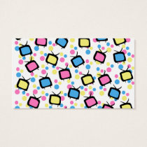 Colorful Funny Cute Silly TV & Polka Dot Pattern