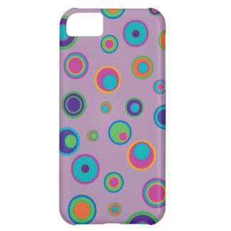 colorful funny dots in dots pattern 3 iPhone 5C case