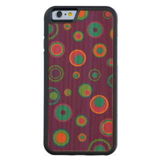 Colorful funny dots in dots pattern 6 carved® cherry iPhone 6 bumper case