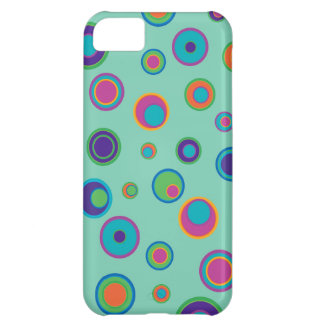 colorful funny dots in dots pattern iPhone 5C covers