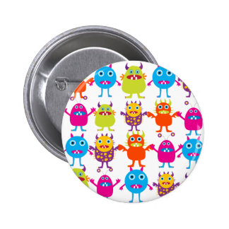 Colorful Funny Monster Party Creatures Bash 2 Inch Round Button
