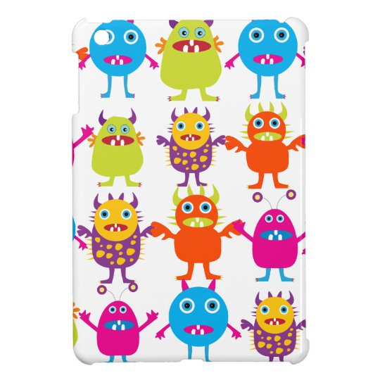 Colorful Funny Monster Party Creatures Bash iPad Mini Covers