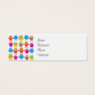 Colorful Funny Monster Party Creatures Bash Mini Business Card
