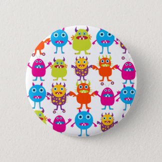 Colorful Funny Monster Party Creatures Bash Pinback Button