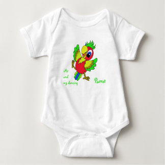 Colorful funny Parrot Baby Bodysuit