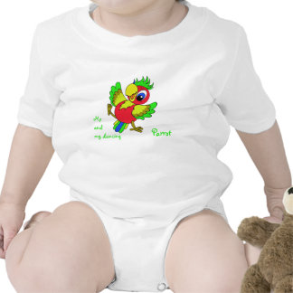 Colorful funny Parrot Bodysuits